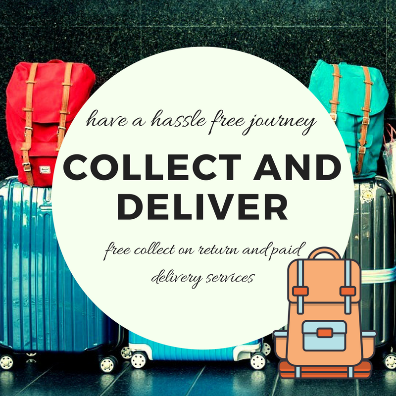 Collect on Return and Deliver luggage leader Shopping & Leisure at Manchester Airport Guide