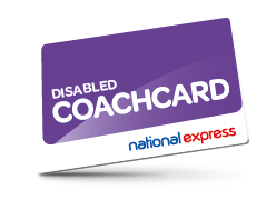 Disabled Coach card with National Express