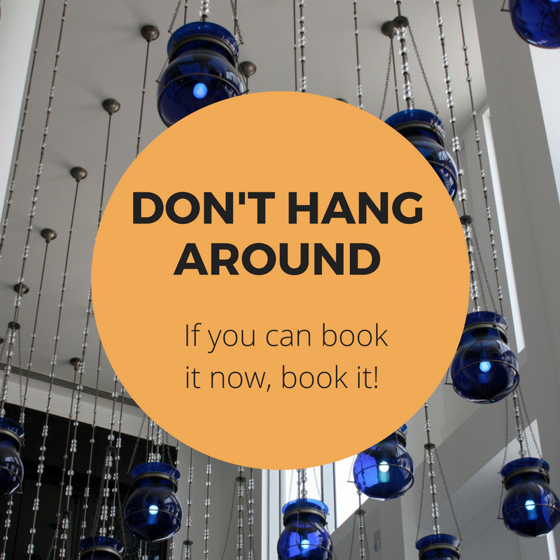Book cheap flights tip - don't hang around!