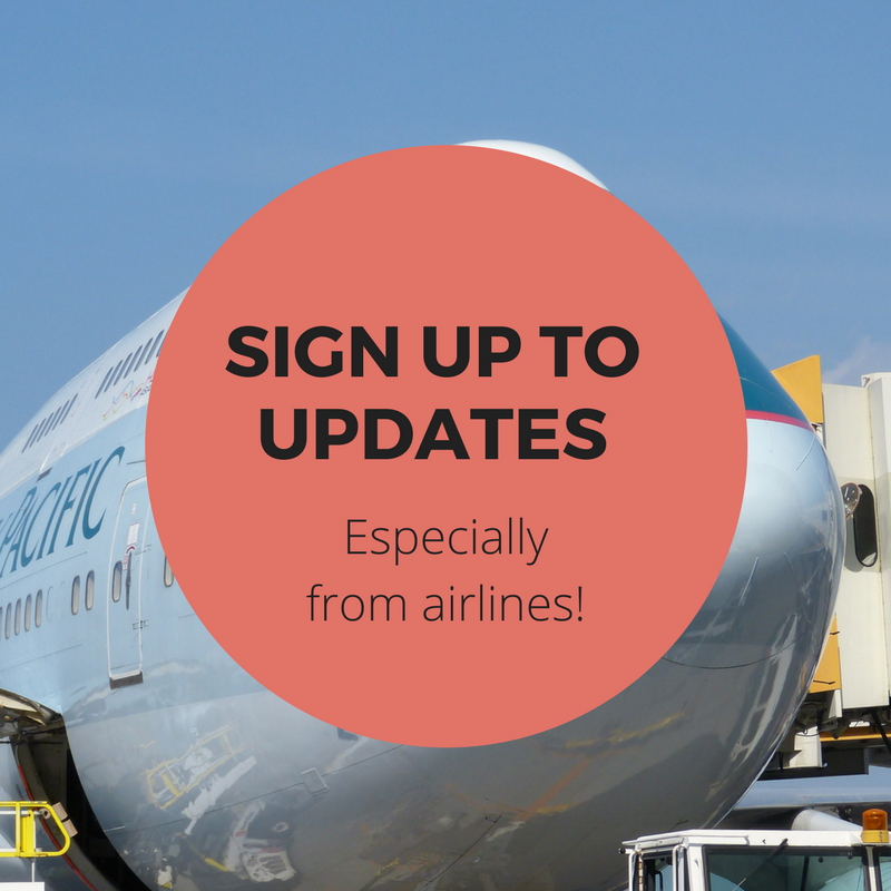 book cheap flights tip - sign up to updates