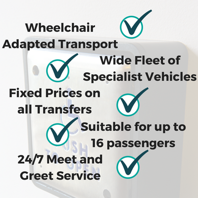 CRT Services include Wheelchair Adapted Transport, Wide Fleet of Specialist Vehicles, Suitable for up to 16 passengers, Fixed Prices on all Transfers, 24/7 Meet and Greet Service. Special assistnace at Manchester Airport
