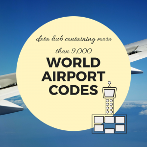 Useful Links - World Airport Codes The site allows you to check all the airport related information you may need in an easy to use way, for each of the 9,000+ airports all around the world.