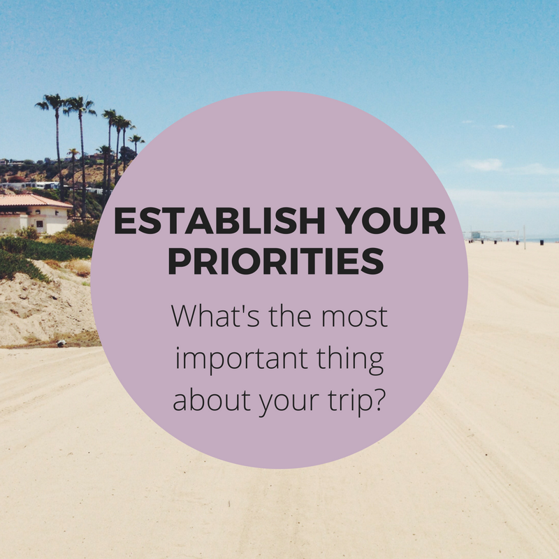 Book cheap flights tip - establish your priorities