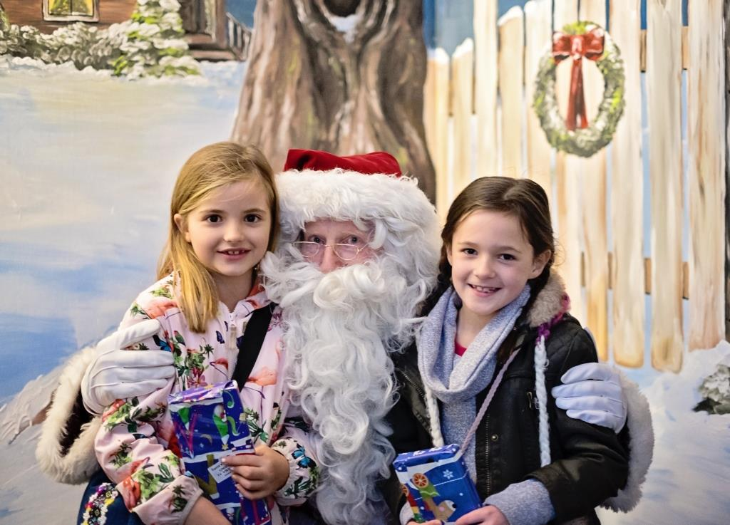 Father Christmas meets the children at Tatton Park Farm