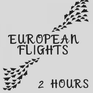 Arrive at the airport at least 2 hours before a European flight