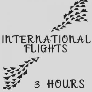 Arrive at the airport at least 3 hours before an International flight